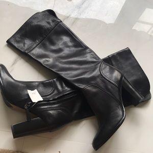 Halogen black leather boots